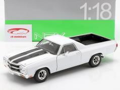 Chevrolet El Camino Baujahr 1970 weiß / schwarz 1:18 Welly