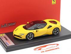 Ferrari SF90 Stradale jaar 2019 modena geel 1:43 Er goed uitzien