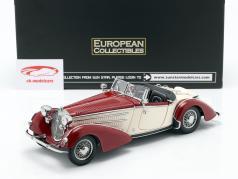 Horch 855 Roadster jaar 1939 donker rood / beige 1:18 SunStar