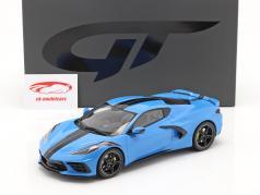 Chevrolet Corvette C8 Bouwjaar 2020 blauw / zwart 1:18 GT-Spirit