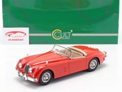 Jaguar XK150 OTS Roadster Baujahr 1958 rot 1:18 Cult Scale