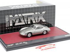 Porsche 356 Zagato Coupe Baujahr 1959 silber 1:43 Matrix