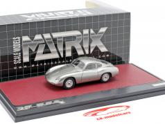 Porsche 356 Zagato Coupe year 1959 silver 1:43 Matrix