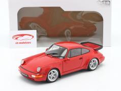 Porsche 911 (964) 3.6 Turbo Byggeår 1990 vagter rød 1:18 Solido