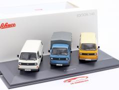 3-Car Set: 40 年份 Volkswagen VW T3 Bus 1:43 Schuco