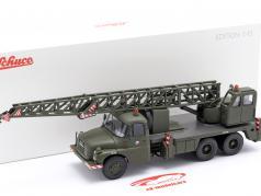Tatra T148 クレーン車 軍の CSSR ダークオリーブ 1:43 Schuco