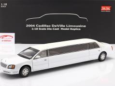 Cadillac DeVille Limousine Bouwjaar 2004 Wit 1:18 SunStar