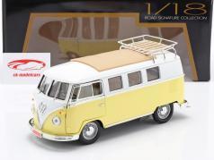 Volkswagen VW T1 Microbus Camping Bouwjaar 1962 geel / Wit 1:18 Lucky DieCast