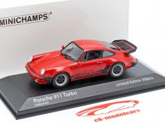 Porsche 911 (930) Turbo 3.3 Byggeår 1979 vagter rød 1:43 Minichamps