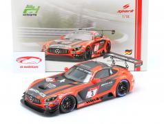 Mercedes-Benz AMG GT3 #3 2do 24h Nürburgring 2019 Team Black Falcon 1:18 Spark