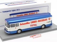 Saviem Transporter 1974 formel 1 Team Ligier blå / hvid 1:43 Spark
