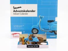 Vespa advent Calendar 2020: Vespa year 1965 blue 1:43 Franzis
