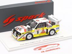 Audi Quattro Sport E2 #6 3 ° Rallye Monte Carlo 1986 Mikkola, Hertz 1:43 Spark