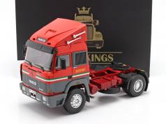 Iveco Turbo Star Scuderia Ferrari Sattelzugmaschine 1988 rot 1:18 Road Kings