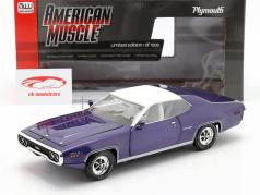Plymouth Satellite Sebring Plus year 1971 violet metallic / White 1:18 AutoWorld