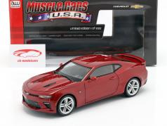 Chevrolet Camaro SS an 2016 rouge 1:18 AutoWorld