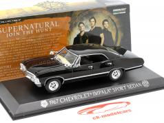 Chevrolet Impala Sport Sedan Séries de TV Supernatural 2005 preto 1:43 Greenlight