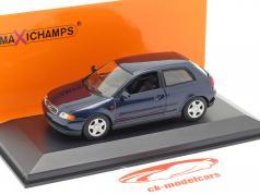 Audi A3 (8L) Año de construcción 1996 azul metálico 1:43 Minichamps