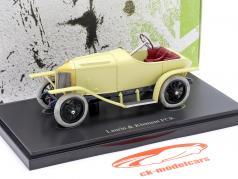 Laurin & Klement FCR Baujahr 1909 beige / creme gelb 1:43 AutoCult