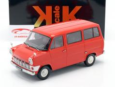 Ford Transit MK1 bus year 1965 red 1:18 KK scale