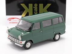 Ford Transit MK1 bus år 1965 mørk grøn 1:18 KK-Scale