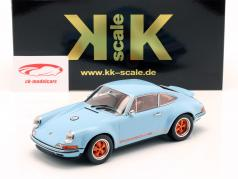 Singer Coupe Porsche 911 Modification golfe bleu / Orange 1:18 KK-Scale