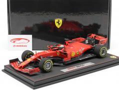 S. Vettel Ferrari SF90 #5 4. plads Belgisk GP formel 1 2019 Med Udstillingsvindue 1:18 BBR