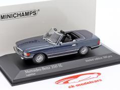Mercedes-Benz 350 SL (R107) Année de construction 1974 bleu métallique 1:43 Minichamps
