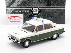 Lada 2106 police GDR year 1976 white / olive green 1:18 Triple9