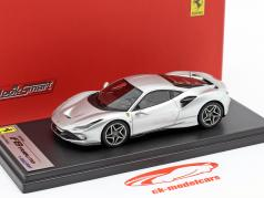Ferrari F8 Tributo Construction year 2019 Nürburgring silver 1:43 LookSmart