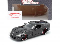 Letty's Dodge Viper SRT 10 Film Fast and Furious 7 (2015) schwarz 1:24 Jada Toys