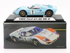 Ford GT40 MK II #1 второй 24h LeMans 1966 Miles, Hulme 1:18 ShelbyCollectibles