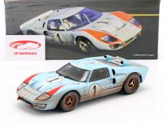 Ford GT40 MK II Dirty Version #1 2do 24h LeMans 1966 Miles, Hulme 1:18 ShelbyCollectibles