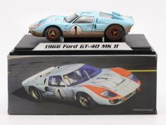 Ford GT40 MK II Dirty Version #1 второй 24h LeMans 1966 Miles, Hulme 1:18 ShelbyCollectibles
