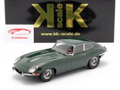 Jaguar E-Type Coupe Series 1 LHD year 1961 dark green 1:18 KK-Scale