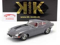 Jaguar E-Type Coupe Series 1 LHD year 1961 grey metallic 1:18 KK-Scale