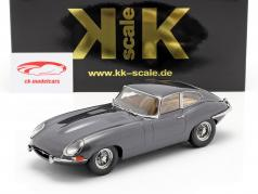 Jaguar E-Type Coupe Series 1 RHD year 1961 grey metallic 1:18 KK-Scale