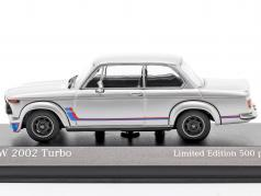 BMW 2002 Turbo (E20) Год постройки 1973 Серебряный 1:43 Minichamps