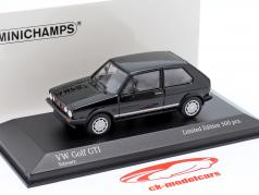 Volkswagen VW Golf 1 GTi Byggeår 1983 sort 1:43 Minichamps
