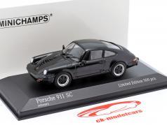 Porsche 911 SC Coupe 建設年 1979 黒 1:43 Minichamps