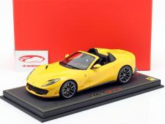Ferrari 812 GTS year 2019 modena yellow 1:18 BBR
