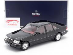 Mercedes-Benz S600 (W140) year 1997 black 1:18 Norev