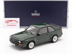 Audi Sport Quattro Bouwjaar 1985 donkergroen 1:18 Norev