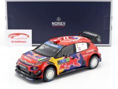 Citroen C3 WRC #1 优胜者 Rallye 墨西哥 2019 Ogier, Ingrassia 1:18 Norev