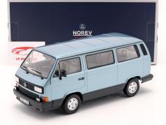 Volkswagen VW Multivan Bouwjaar 1990 Lichtblauw metalen 1:18 Norev