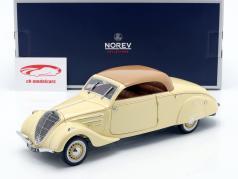 Peugeot 402 Eclipse Année de construction 1937 beige / caramel 1:18 Norev