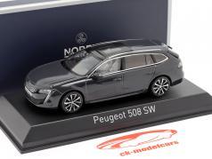 Peugeot 508 SW Byggeår 2018 orkan Grå 1:43 Norev