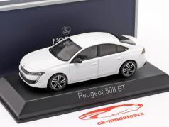 Peugeot 508 GT 年 2018 珍珠 白色 1:43 Norev