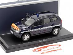 Dacia Duster Gendarmerie an 2018 sombre bleu 1:43 Norev