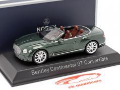 Bentley Continental GT Convertible 年 2019 葱茏 绿色 金属的 1:43 Norev